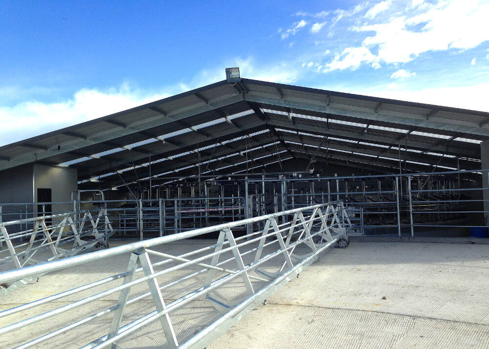 outside read rotary milking system